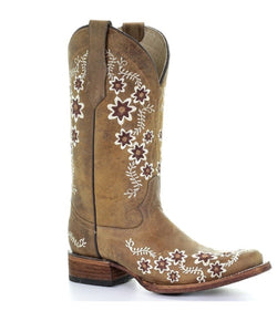 CORRAL WOMEN'S EMBROIDERED FLORAL DESIGN BOOT- STYLE #L5382