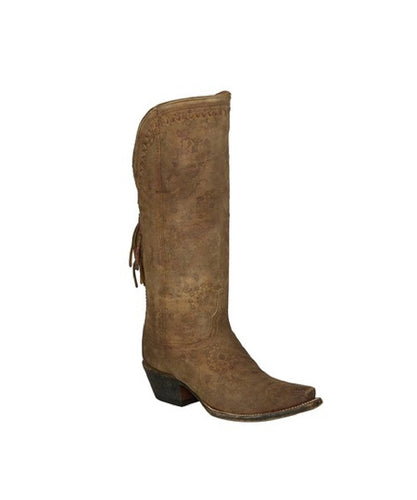 Lucchese Women's Brown Floral Print Boot- Style #M4952
