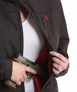 Cinch Women's Chocolate Concealed Carry Bonded Jacket- Style #MAJ9866011