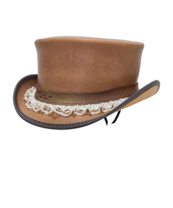 Head'N Home Hats Marlow Garter Band Top Hat- Style #MARLOW- GARTER BAND