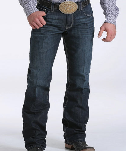 Cinch Men's Carter 2.4 Dark Rinse Performance Denim Jean- Style #MB71934005