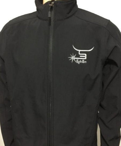 Spin'Em Rodeo Men's Port Authority Black Bonded Jacket- Style # MENSBLACKJACKET