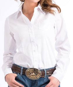 Cinch Women's White Button Down Shirt- Style #MSW9164026