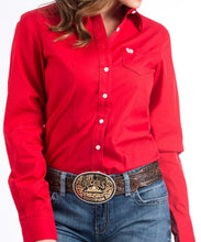 Cinch Women's Red Button Down Western Shirt- Style #MSW9164032