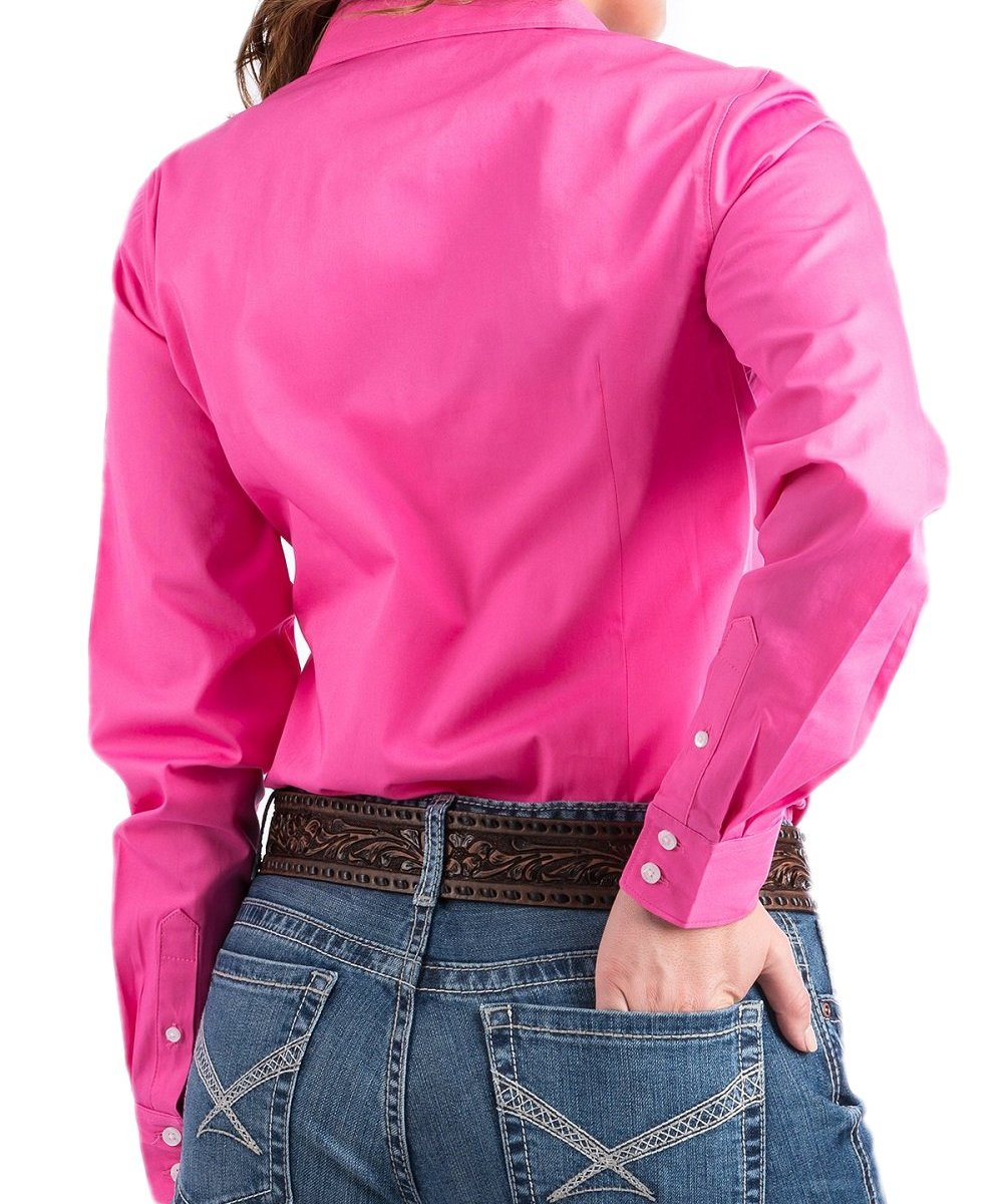 ... CINCH WOMEN S SOLID PINK BUTTON DOWN SHIRT- STYLE  MSW9164033 ... 347d5840e