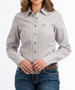 c31200d1 Cinch Women's Striped Button Down Shirt- Style #MSW9164095