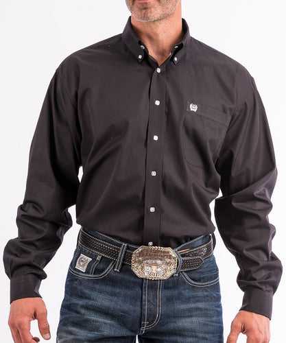 Cinch Men's Big & Tall Black Button Down Shirt- Style #MT1032083X