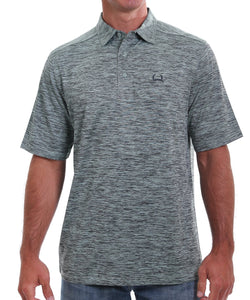 Cinch Men's ArenaFlex Heather Navy And Mint Polo Shirt- Style #MTK1865003