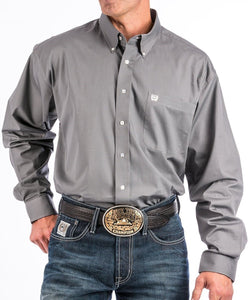 Cinch Men's Gray Button Down Western Shirt- Style #MTW1104238