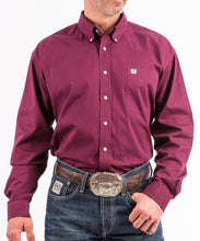 Cinch Men's Burgundy Western Button Down Shirt- Style #MTW1104239