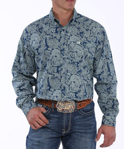Cinch Men's Paisley Print Button Down Shirt- Style #MTW1104885