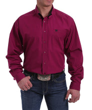 Cinch Men's Solid Burgundy Button Down Shirt- Style #MTW1104998