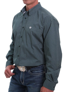 Cinch Men's Diamond Print Button Down Shirt- Style #MTW1105025