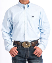 Cinch Men's Light Blue Oxford Western Button Down Shirt- Style #MTW1108001