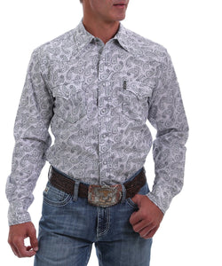 Cinch Men's Modern Fit Paisley Print Western Snap Shirt- Style #MTW1303041