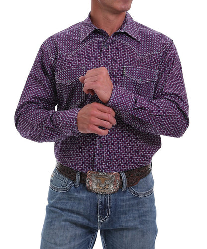 Cinch Men's Diamond Print Western Snap Shirt- Style #MTW1312040