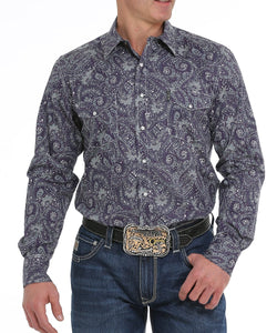 Cinch Men's Paisley Print Snap Western Shirt- Style #MTW1322022