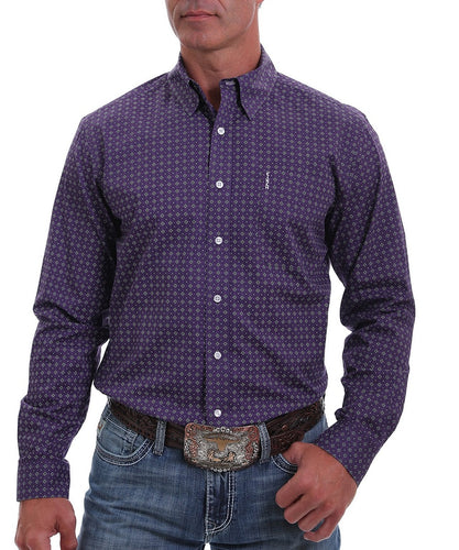 Cinch Men's Modern Fit Diamond Geo Print Button Down Shirt- Style #MTW1343119