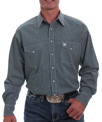 Cinch Men's Checkered Print Western Snap Shirt- Style #MTW1682023