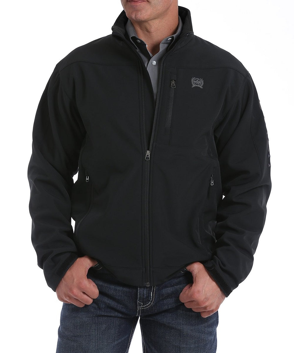 Cinch Men's Black And Silver Bonded Jacket- Style #MWJ1077063