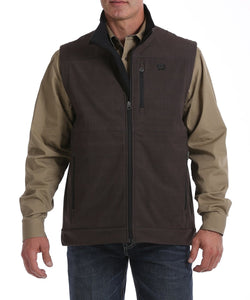 Cinch Men's Chocolate Concealed Carry Vest- Style #MWV1082005