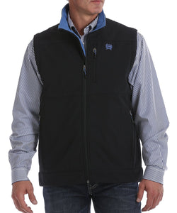 Cinch Men's Big And Tall Black & Blue Concealed Carry Bonded Vest- Style #MWV108204X