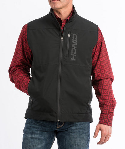 Cinch Men's Black Windproof Vest- Style #MWV1099008