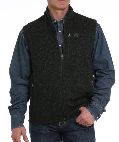 Cinch Men's Black Sweater Knit Fleece Vest- Style #MWV1225001