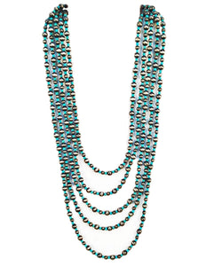 CINDY SMITH CO. WOMEN'S MULTI STRAND TURQUOISE/SILVER NECKLACE - STYLE #N2050