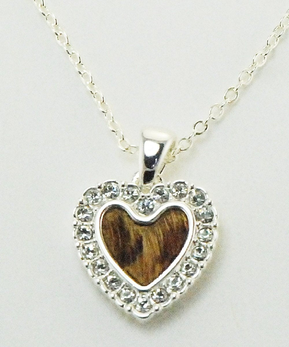 Finishing Touch Of Kentucky Women's Crystal Hair On Heart Necklace- Style #NC2007
