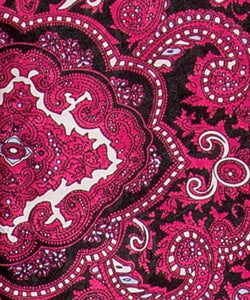 Wyoming West Red And Black Paisley Jacquard Silk Wild Rag Scarf- Style #PRB