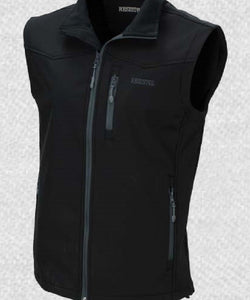RESISTOL MEN'S SOFT SHELL BLACK VEST- STYLE #R4A808-4716