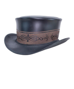 Head'N Home Hats Retro Leather Top Hat- Style #RETRO