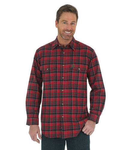 WRANGLER MEN'S RIGGS WORKWEAR HEAVYWEIGHT FLANNEL SHIRT- STYLE #3W532BR