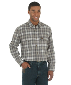 Wrangler Men's Riggs Workwear Heavyweight Flannel Shirt- Style #3W532GY