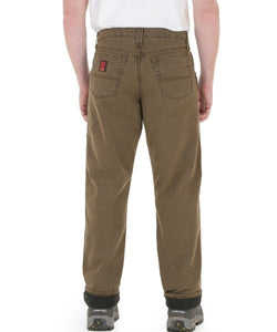 WRANGLER MEN'S RIGGS WORKWEAR LINED RELAXED FIT JEAN- STYLE #3W055NB