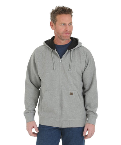 WRANGLER MEN'S RIGGS WORKWEAR FULL ZIP HOODED SWEATSHIRT- STYLE #3W784AS