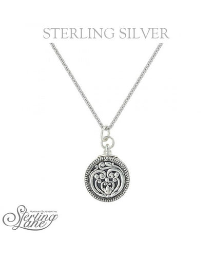 MONTANA SILVERSMITHS WOMEN'S STERLING LANE CAPTURING THE MOMENT LOCKET NECKLACE- STYLE #SLNC007