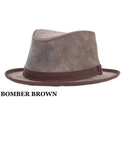 HEAD'N HOME HATS SOHO LEATHER FEDORA- STYLE #SOHO