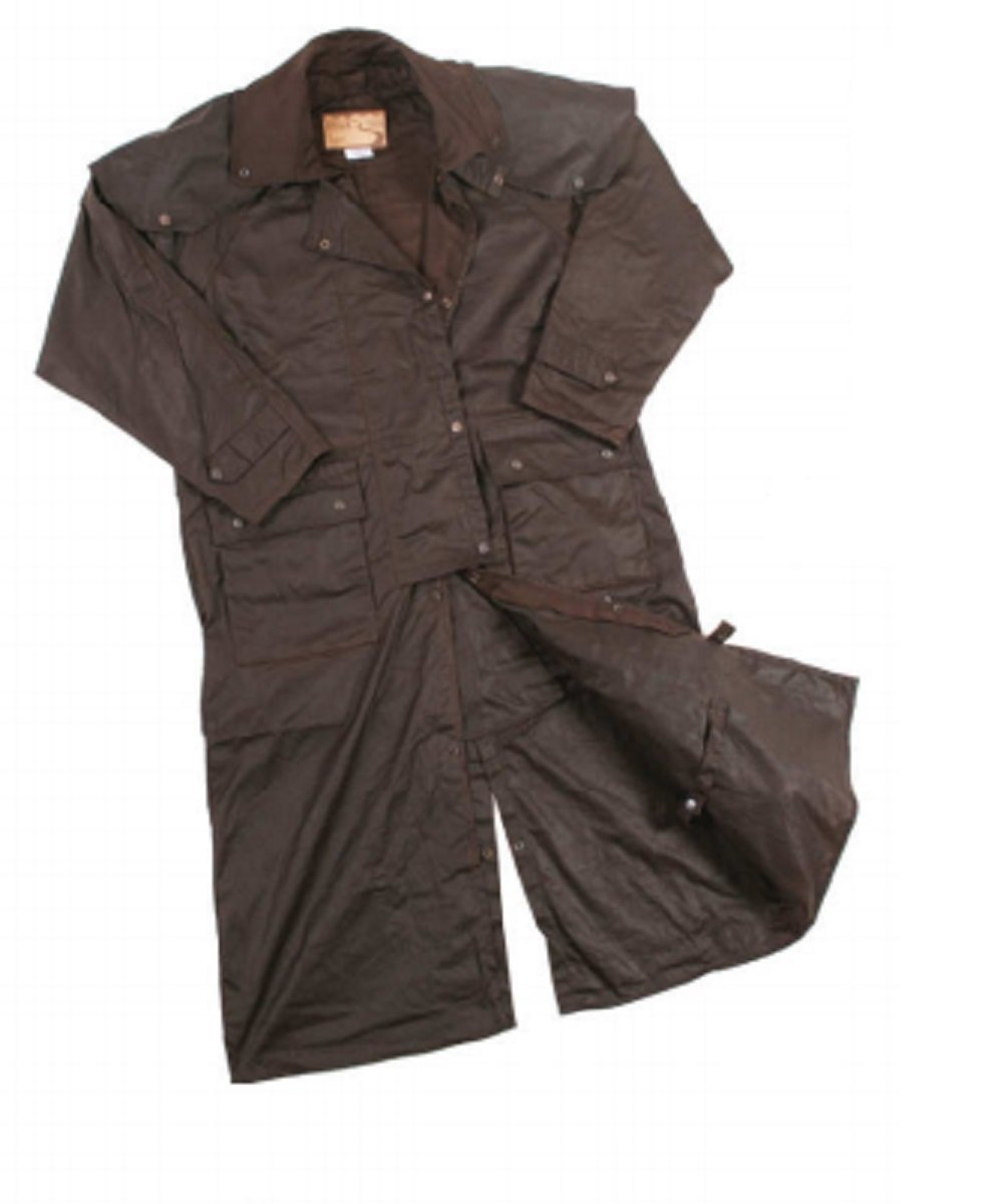 Foxfire Men's Long Snow River Black Duster Coat- Style #SRH