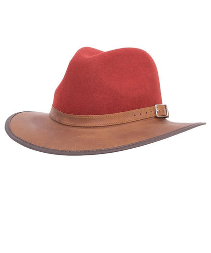 HEAD'N HOME HATS SUMMIT LEATHER FEDORA- STYLE #SUMMIT