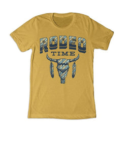 Rodeo Time Unisex Dale Brisby Mustard Tribal Tee- Style #T39