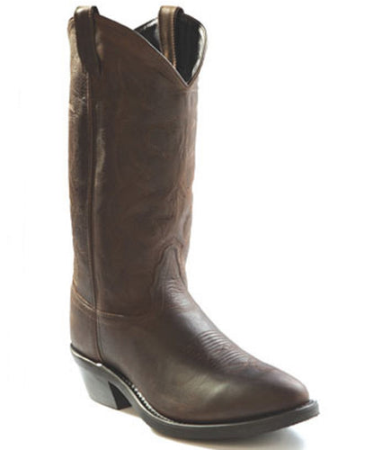 Old West Men's Brown Narrow Round Toe Western Boot- Style #TBM3051