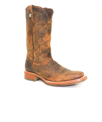 Tanner Mark Men's Buffalo Honey Wide Square Toe Boot- Style #TM201886