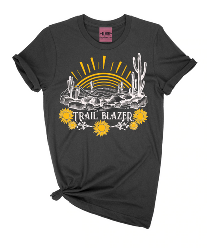 Ali Dee Collection Women's Black Trailblazer Tee- Style #TRAILBLAZER