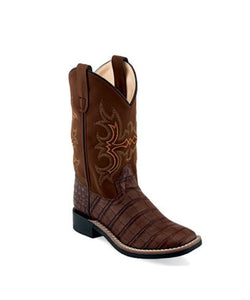 Old West Children's Faux Caiman Boot- Style #VB9156