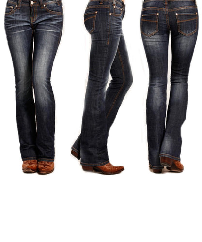 Rock & Roll Cowgirl Women's Rival Boot Cut Jean- Style #W6-3385