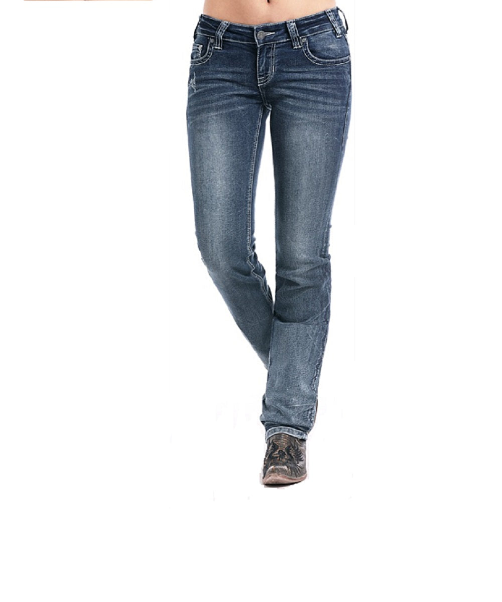 Panhandle Women's Rock & Roll Cowgirl Rival Extra Stretch Abstract Jean- Style #W6T7655