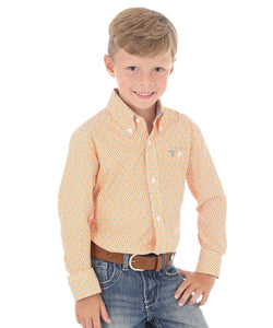 WRANGLER BOYS' 20X ADVANCED COMFORT COMPETITION BUTTON DOWN SHIRT- STYLE #BJC113M