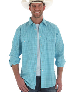 WRANGLER MEN'S WRINKLE RESIST SNAP SHIRT- STYLE #MWR255M